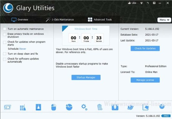 Glary Utilities Pro 5 License Free for 1 Year