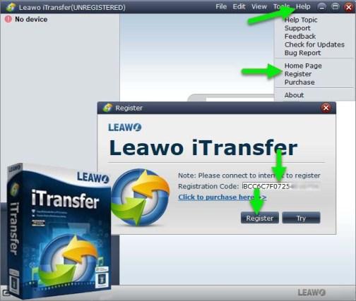 Leawo iTransfer License Key Free for [Win/Mac] iOS Data Transfer Backup