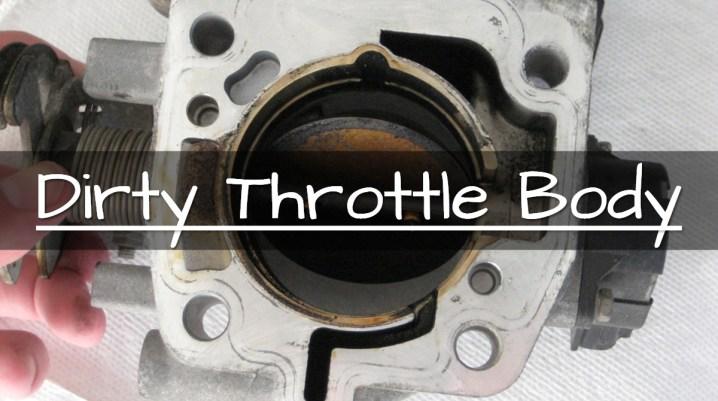 dirty throttle body