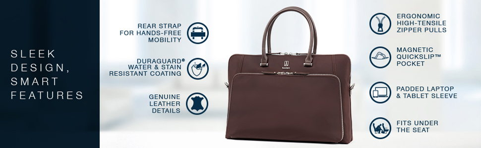 Travelpro Womens Platinum Elite Briefcase 1