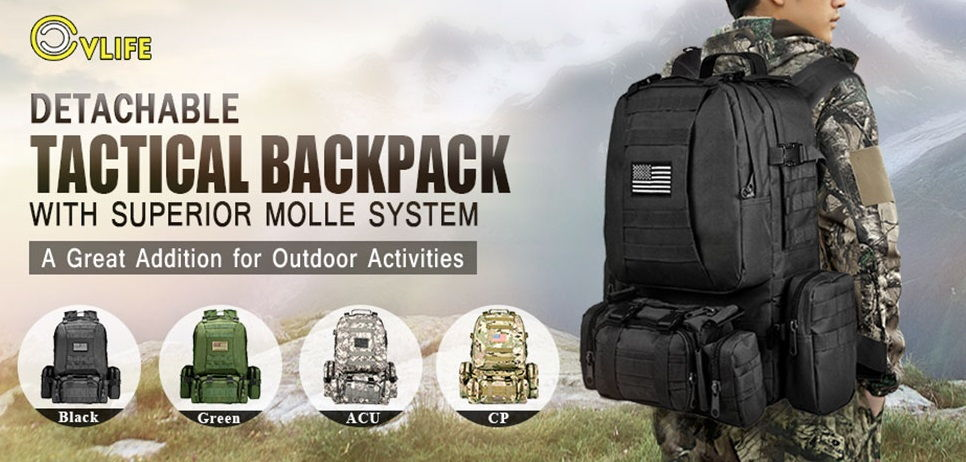CVLIFE Built up Military Tactical Backpack 1