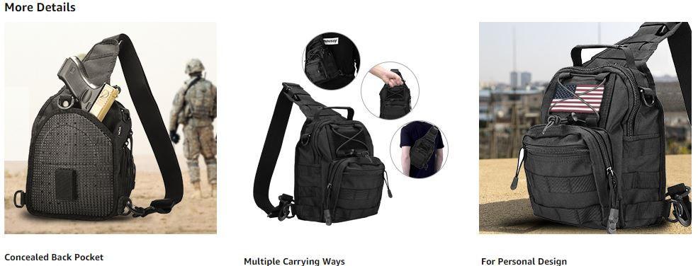ProCase Tactical Sling Bag 1