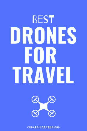 Image of Text saying Best Drones for Travel
