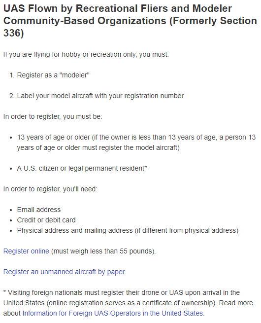 Image of FAA Drone Registration Policy