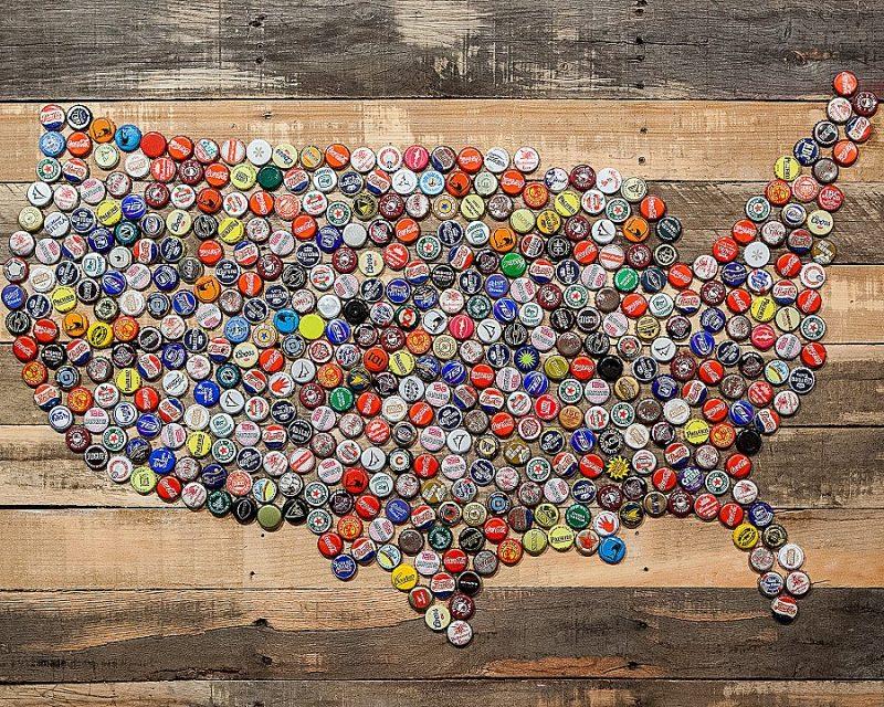 hiasan dinding dari botol bekas