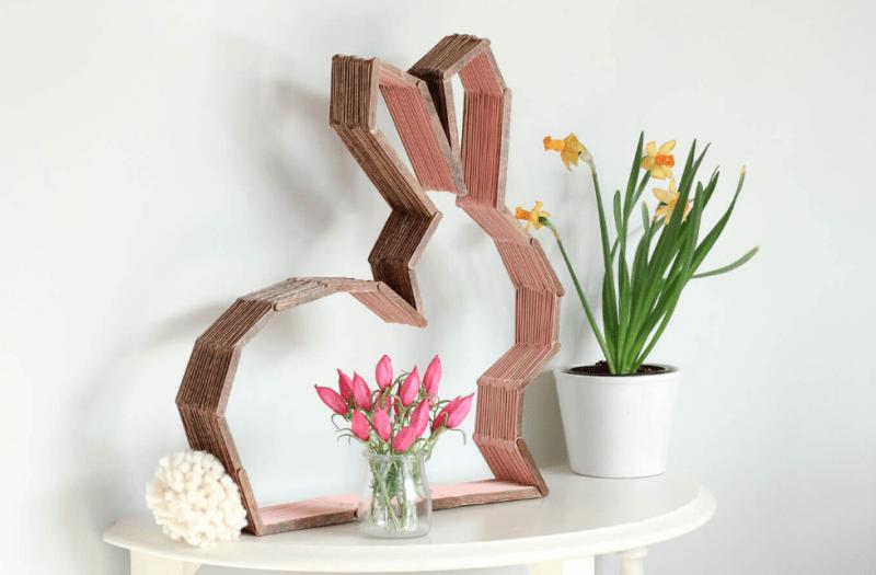 hiasan patung dari kayu bekas