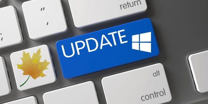 tombol update windows
