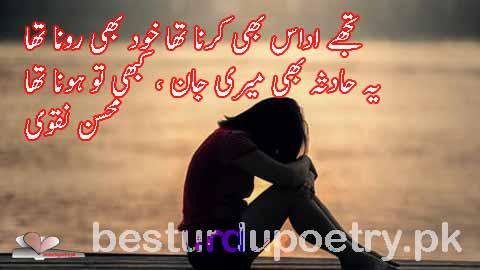 tujhay udas bhi karna tha khud bhi rona tha - besturdupoetry.pk
