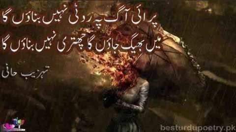 parai aag pay roti nahi banaon ga - tehzeeb hafi poetry - besturdupoetry.pk