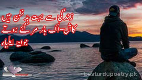 zindagi say buhat badzan haan - besturdupoetry.pk