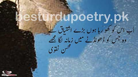 ab us ko kho raha hoon baray ishtiaq say - besturdupoetry.pk
