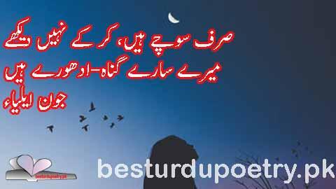 sirf sochay haan kar kay nahi dekhy -  besturdupoetry.pk