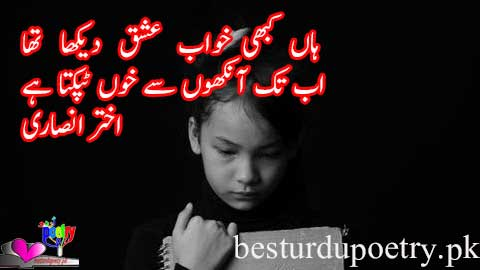 haan kabhi khwab e ishq dekha tha - akhter ansari poetry - besturdupoetry.pk