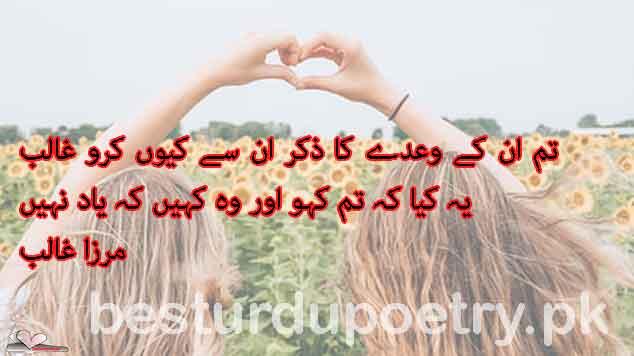 tum un kay wady ka zikar un say kiyun karo ghalib - mirza ghalib poetry in urdu - besturdupoetry.pk
