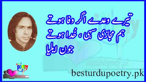 tery waday agar wafa hotay - june elia poetry - besturdupoetry.pk
