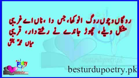 rogann wichon rog anokha jis da naam gharibi - besturdupoetry.pk