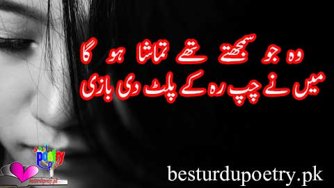wo jo samajhty thay tamasha ho ga - besturdupoetry.pk