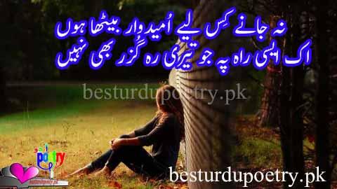 na janay kis liye umeedwar betha hoon - umeed poetry in urdu - besturdupoetry.pk