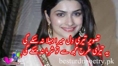 tasveer teri dil mera behla na sakay gi - deep love poetry in urdu
