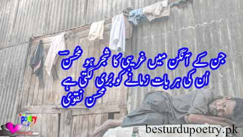 jis kay aangan main ghareebi ka shajar ho mohsan - mohsin naqvi poetry in urdu - besturdupoetry.pk