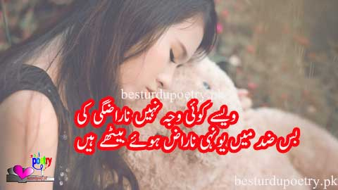 waisay koi waja nahi narazgi ki