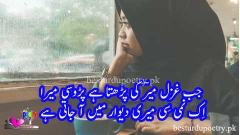 jab ghazal mir ki parrta hai parosi mera - sad poetry in urdu