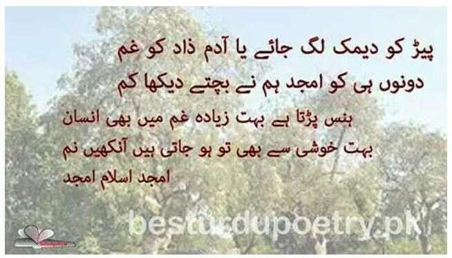 amjad islam amjad sad poetry in urdu