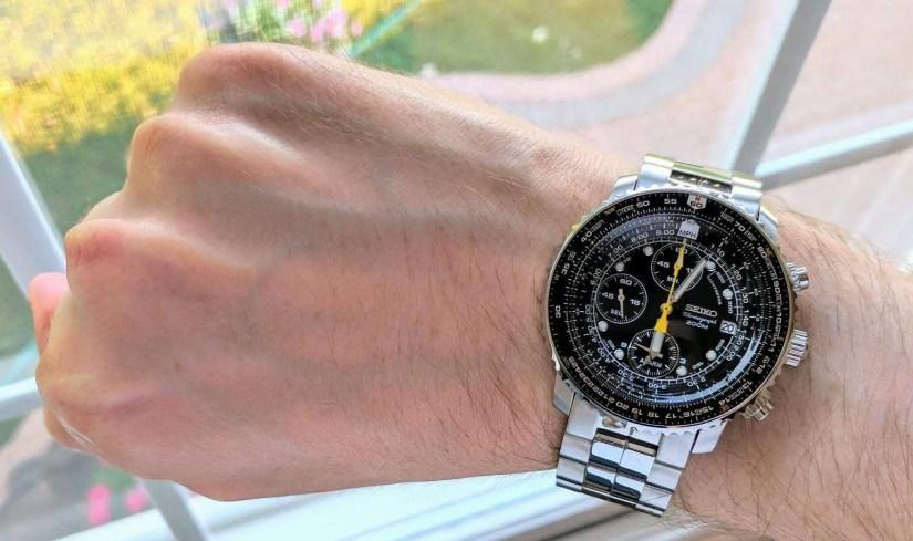 Seiko Flightmaster SNA411Chronograph Watch kre