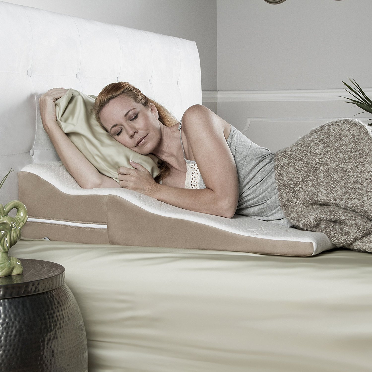 wedge pillow for acid reflux gerd and