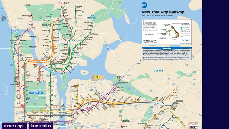 New York City Subway Map for Windows for Windows 8 and 8 1 Map