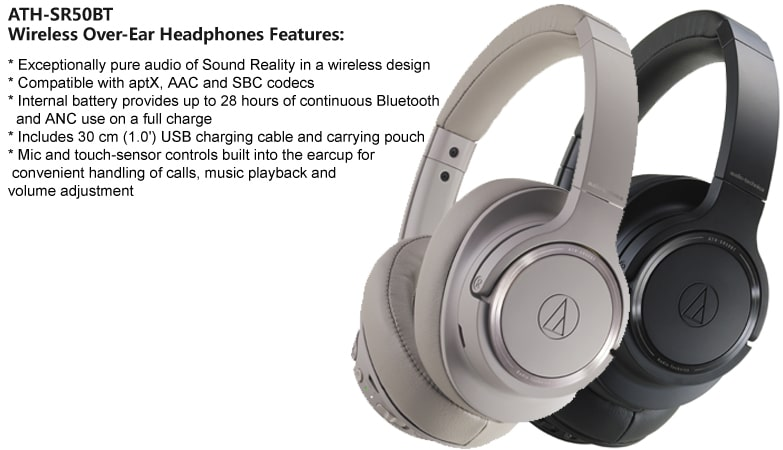 ATH-SR50BT Headphone Features