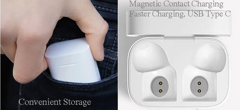 Xiaomi Mi AirDots Pro Magnetic Contact Charging-min
