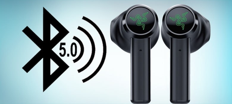 Bluetooth version 5.0. Its Bluetooth connection - razer hammerhead true wireless compatible with ps4, mobile phone and pc