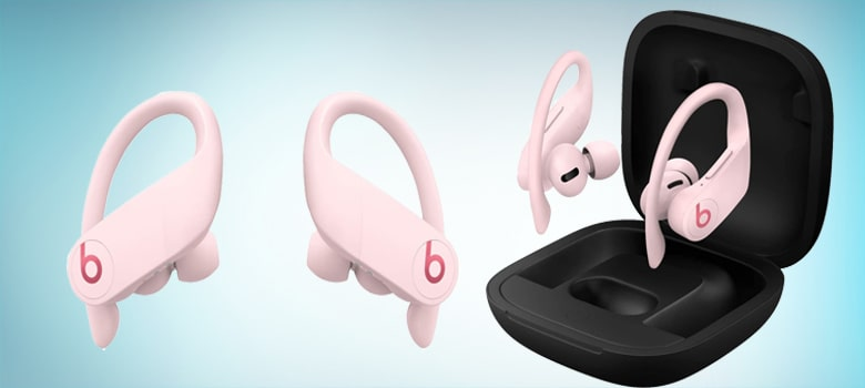 Pink Wireless Bluetooth Earbuds with Mic