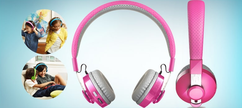 Pink Wireless Bluetooth Headphones