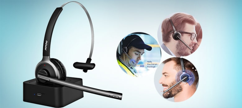 Bluetooth Headset with Microphone for Working Office