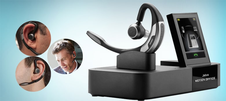Jabra Motion Office MS Wireless Bluetooth Headset for Improve your Soft-phone Call Qualit