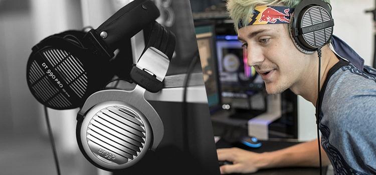 What Headset Does Ninja Use - Beyerdynamic 459038 DT 990 PRO Open Studio Headphone