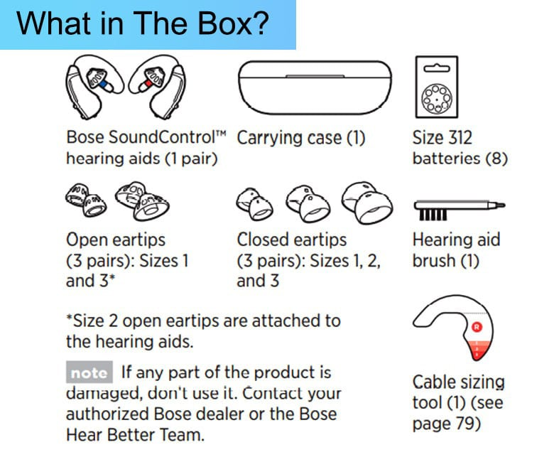 Bose Hearing Aid - What in The Box