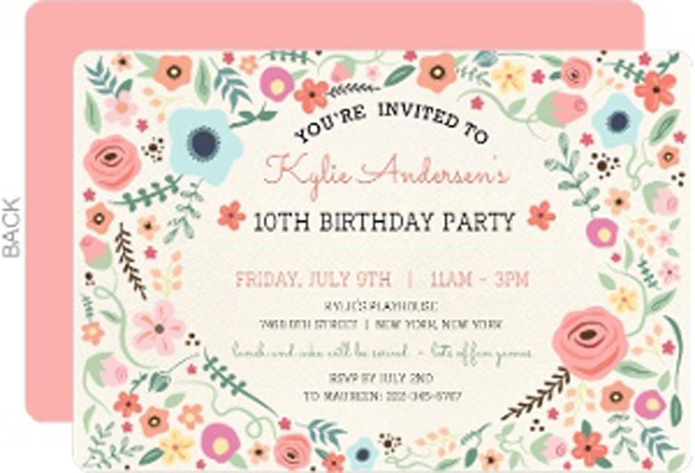10th birthday invitation card best