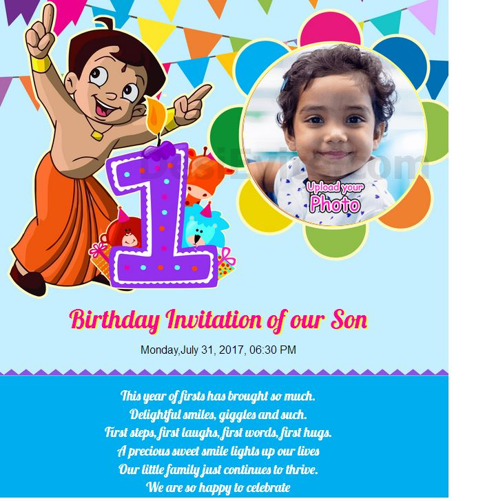 5th birthday invitation message in