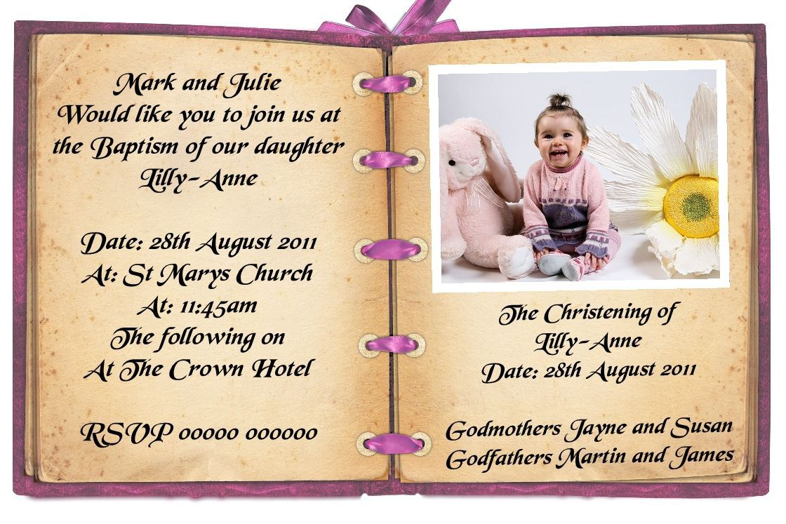 birthday and baptism invitation