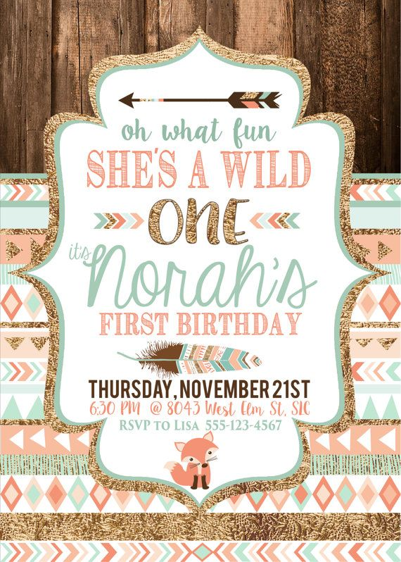 wild one birthday invitation template