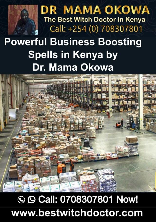 Powerful Business Boostings Spells in Kenya by Dr. Mama Okowa