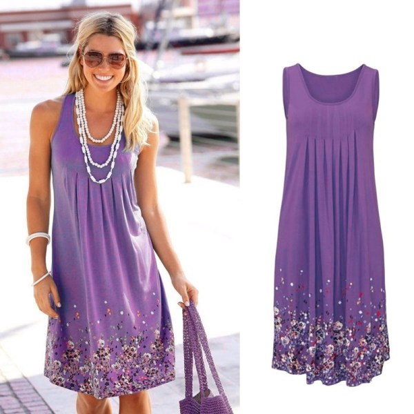 Floral Print Loose Summer Dress