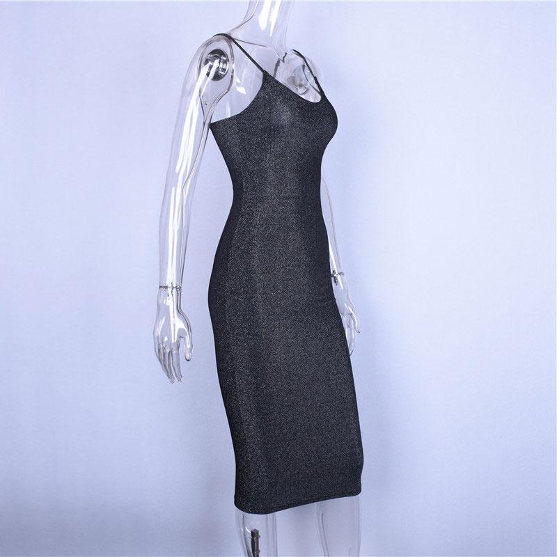 Club Dress Spaghetti Straps Slash Fashion Party Dresses