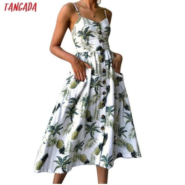 Sexy Bohemian Floral Tunic Beach Dress Sundress