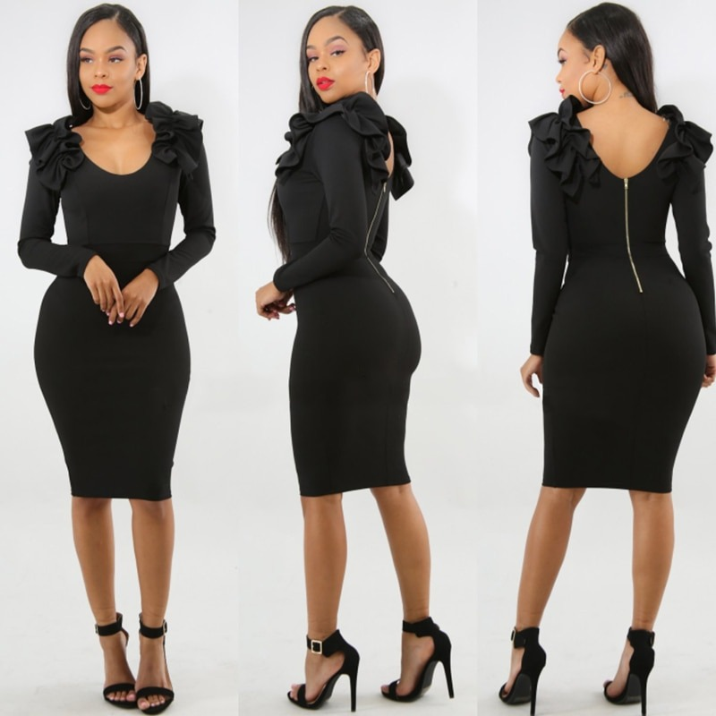 Sexy Women Bodycon Dress Backless Party Dress