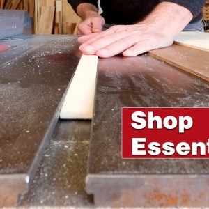 The simplest table saw crosscut sled on YouTube. Essential woodworking shop project.