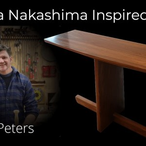 LIVE at 3pm EST: I will show you how to build my Nakashima Inspired Entry Table